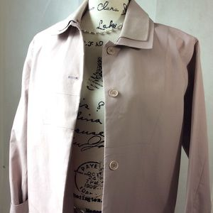 Lactose Classic Blush Lightweight Trench Car Coat